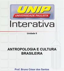 1º Semestre Serviço Social - Antropologia e Cultura Brasileira - slide da aula - unidade II