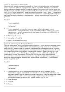 Apol 5 Teoria geral da administração e administração da produção de materiais