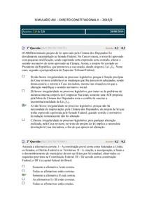 SIMULADO AVI - DIR CONST II