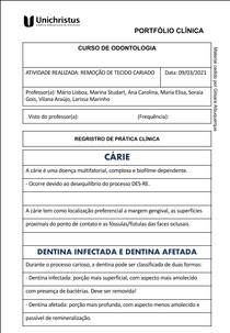 PORTFOLIO REMOCAO DE TECIDO CARIE