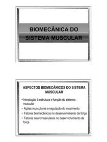 Biomecanica do Sis Muscular