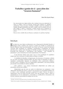 Cadernos de psicologia social do trabalho 2