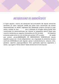 O metabolismo de aminoácidos