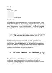 DISCUSSÕES EMERGENTES - Atividade Intermediária - 10/10