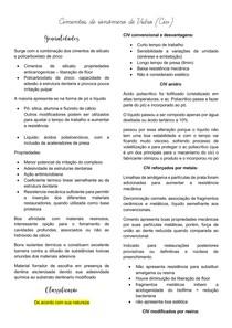 Cimentos de ionômero de vidro (CIV) - introdução