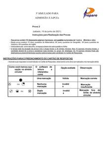 3º SIMULADO EsPCEx - 2º DIA CURSO PREPARE 2021
