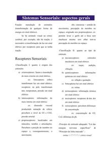 Sistemas Sensoriais: aspectos gerais