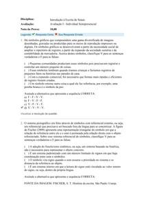 AV1 INTRODUÇÃO À ESCRITA DA LINGUA DE SINAIS