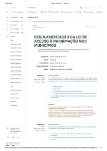 REGULAMENTAÇÃO DA LEI DE