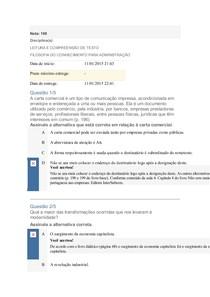 APOL3 LEITURA E COMPREENSÃO DE TEXTO e FILOSOFIA Nota 100