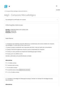 Adg3 - Composto Mercadológico