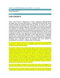 DIREITO EMPRESARIAL APLICADO II caso concreto  semana 07