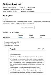 Atividade Objetiva 3 - Sistemas de Informações Gerenciais - Fam Online