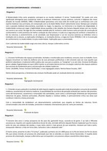 DESAFIOS CONTEMPORANEOS ATIVIDADE 2