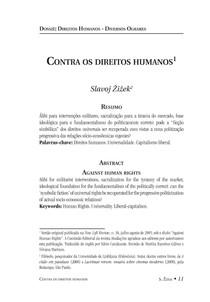 Contra os Direitos Humanos - Zizek