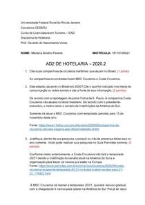 AD2- HOTELARIA