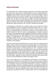 DIREITO À EDUCAÇÃO - PRINCIPAIS APONTAMENTOS