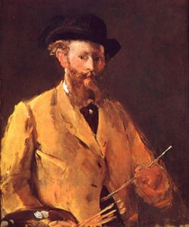 Edouard Manet - Self-Portrait-with-a-Palette