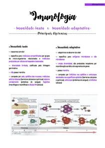 Imunologia -diferenças entre inata e adaptativa