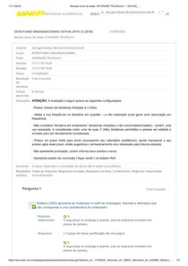 ETRUTURAS ORGANIACIONAIS  ATIVIDADE TELEAULA I