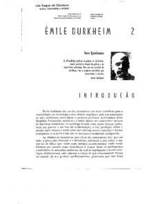 DURKHEIN - Estudo da Sociologia