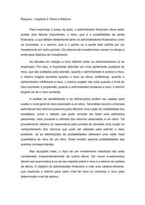 Resumo Capítulo 5 - Livro Principios da Administração Financeira - Lauwrence Gitman