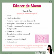 Fatores de Risco - Câncer de Mama