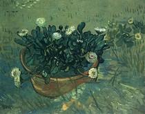 Vincent Willem van Gogh-ainda-vida Bacia-com-Daisies