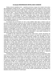 Introdução MODERNIDADE ONTEM, HOJE E AMANHÃ