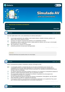 ARQUITETURA DE SISTEMAS DISTRIBUIDOS SIMULADO AV