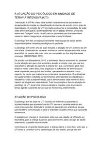 A ATUAÇÃO DO PSICÓLOGO EM UNIDADE DE TERAPIA INTENSIVA resumo sz