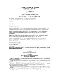 LEI DO ORDENAMENTO DO USO E DA OCUPAÇÃO DO SOLO - Lei n° 1 615-1992