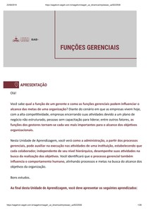 FUNÇÕES GERENCIAIS