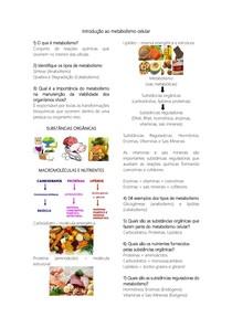 Introdução ao Metabolismo Celular