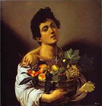 caravaggio - Menino com uma cesta de frutas