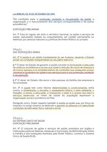 Lei 8080/90 partes principais partes grifadas