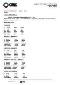 Português do Zero - AULA 12 (Conjugação Verbal)