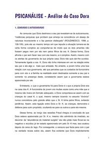 Análise do Caso Dora (Psicanálise)