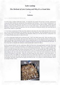 late casing (psilosophy info) - Fungos
