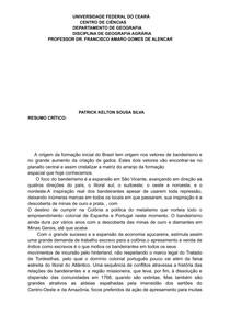 resumo crítico sociedade e espaço no Brasil