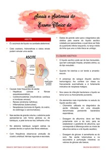 Sinais e Sintomas do Exame Clínico do Abdome