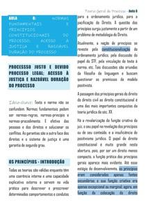 AULA 8 TGP UFES - NORMAS FUNDAMENTAIS E PRINCIPIOS CONSTITUCIONAIS DO PROCESSO; ACESSO À JUSTIÇA E RAZOÁVEL DURAÇÃO DO PROCESSO