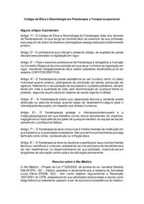 Código de Ética e Deontologia em Fisioterapia e Ato Médico