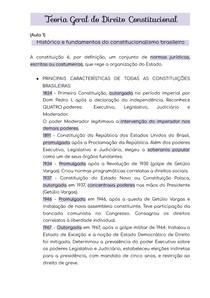 TÓPICOS INICIAIS - TEORIA GERAL DO DIREITO CONSTITUCIONAL -