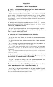 Direito Civil III - Teoria Dualista - Contrato - Responsabilidade