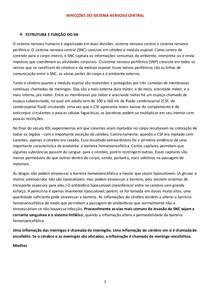 INFECÇÕES DO SISTEMA NERVOSO CENTRAL