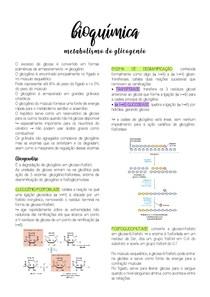 Bioquímica - Metabolismo do glicogênio