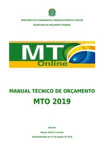 Manual Técnico do Orçamento 2019