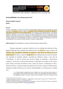SUSTENTENTABILIDADE CONSENSO PERVERSO