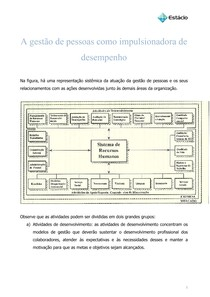 A gestão de pessoas como impulsionadora de desempenho